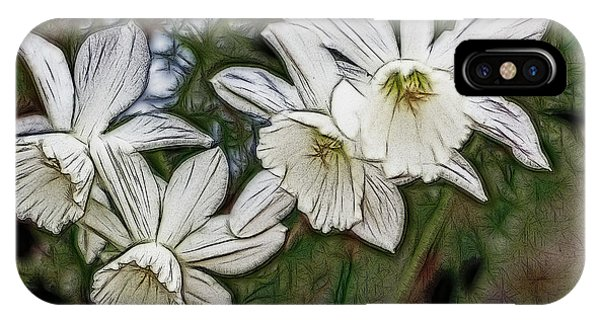 White Daffodil Flowers IPhone Case