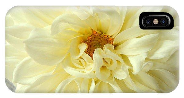 White Dahlia IPhone Case