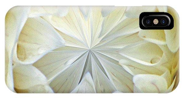 White Dahlia Orb IPhone Case