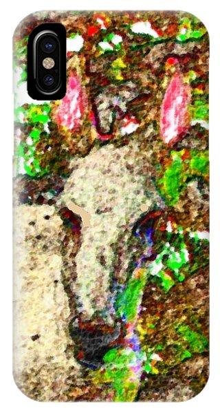 White Donkey-owner Of Hills Phone Case by Dr Loifer Vladimir