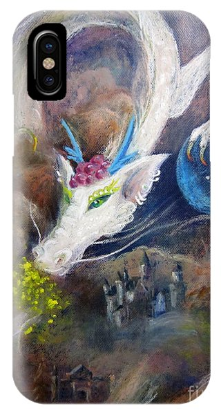 White Dragon IPhone Case