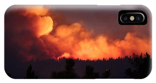 White Draw Fire First Night IPhone Case