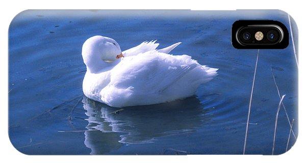 White Duck IPhone Case