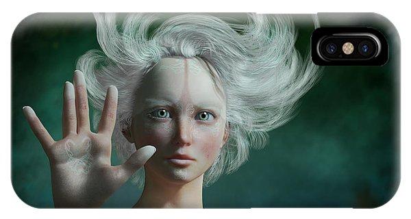Elf iPhone X Case - White Faun by Britta Glodde