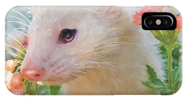 White Ferret IPhone Case