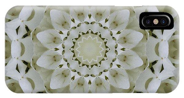 White Floral Mandala 4 IPhone Case