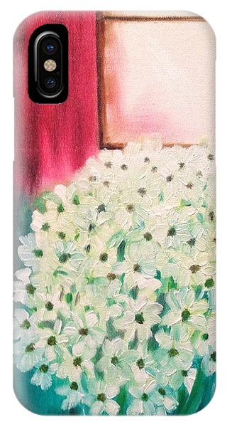 White Flowers IPhone Case
