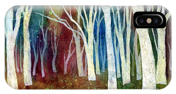 Tree iPhone Case - White Forest I by Hailey E Herrera