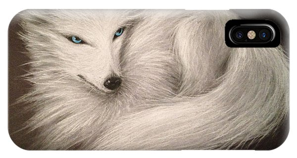 White Fox IPhone Case