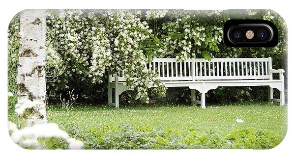 White Garden Iv IPhone Case