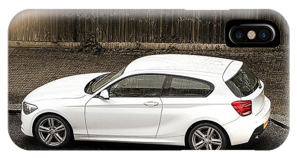 White Hatchback Car IPhone Case