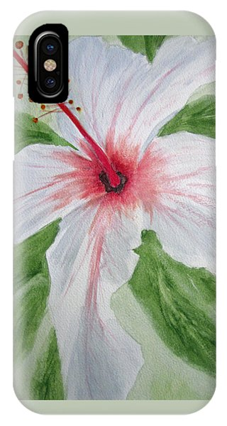 White Hibiscus Flower IPhone Case