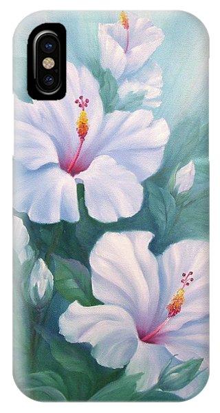 White Hibiscus IPhone Case