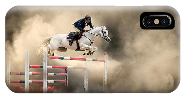 Action iPhone X Case - White Horse by Arif ??nsal