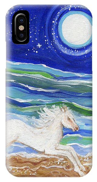 White Horse Of The Sea IPhone Case