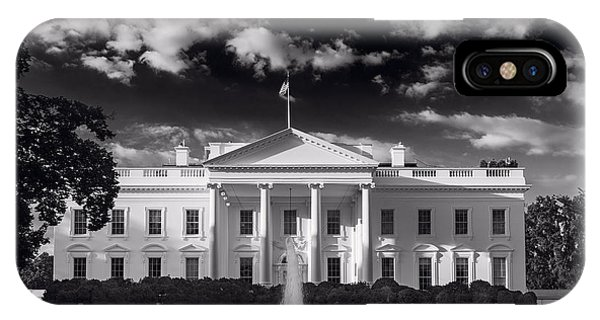 White House Sunrise B W IPhone Case