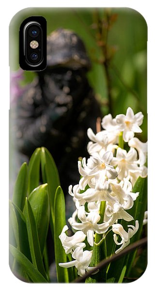 White Hyacinth In The Garden IPhone Case