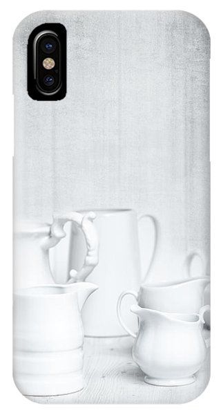 White Background iPhone Case - White Jugs by Amanda Elwell