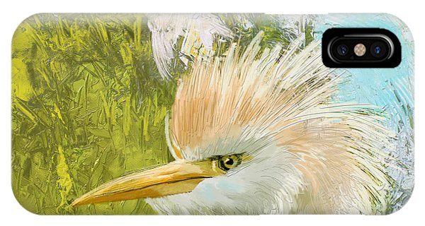 Parakeet iPhone Case - White Kingfisher by Catf