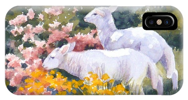 White Lambs In Scotland IPhone Case