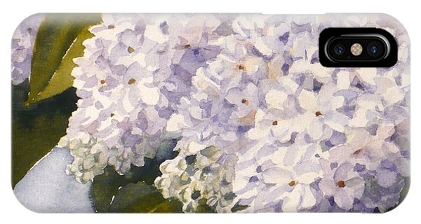 White Lilacs IPhone Case