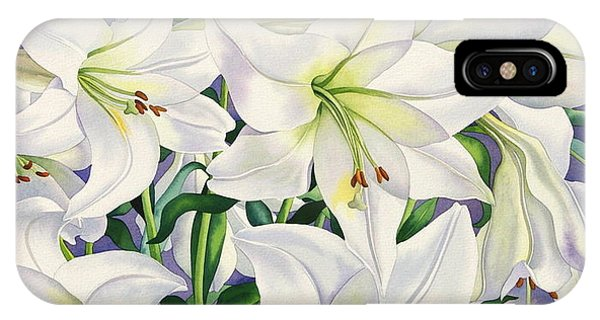 Lily iPhone Case - White Lilies by Christopher Ryland