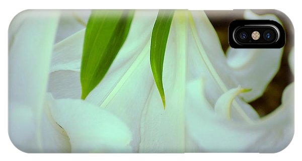 White Lily Bows  IPhone Case