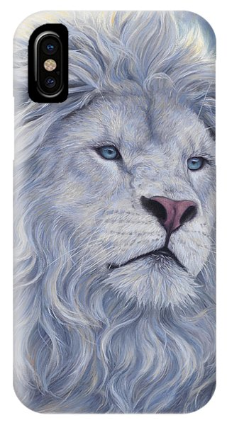 Africa iPhone X Case - White Lion by Lucie Bilodeau