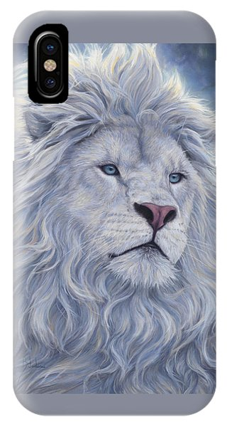Wildlife iPhone Case - White Lion by Lucie Bilodeau