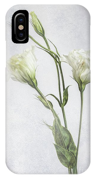 White Lisianthus Flowers IPhone Case