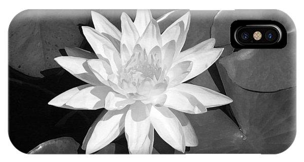Aquatic Plants iPhone Case - White Lotus 2 by Ellen Henneke