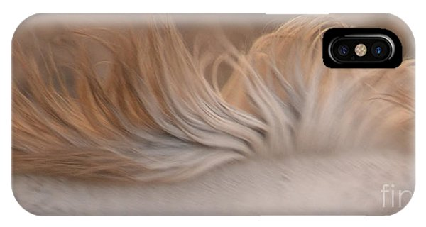 White Mare Mane Number One Close Up Panoramic Muted IPhone Case