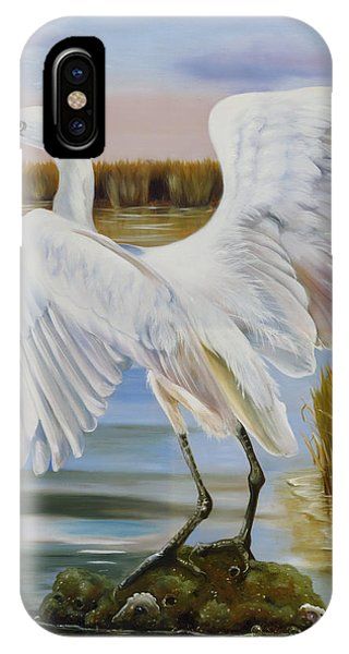 White Morph Reddish Egret At Creole Gap IPhone Case