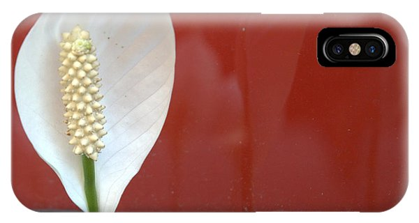 White On Red Reflections IPhone Case
