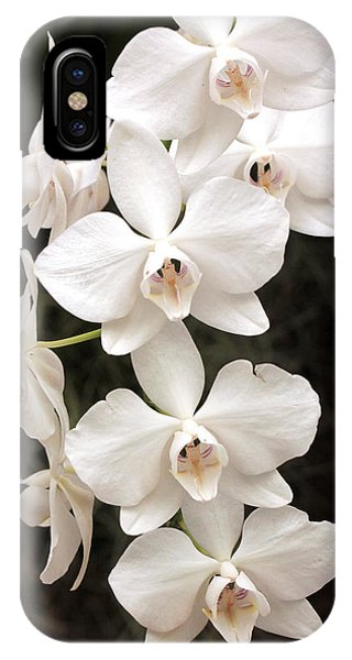 White Orchid Cascade IPhone Case