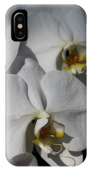 White Orchid Phone Case by Mark Steven Burhart