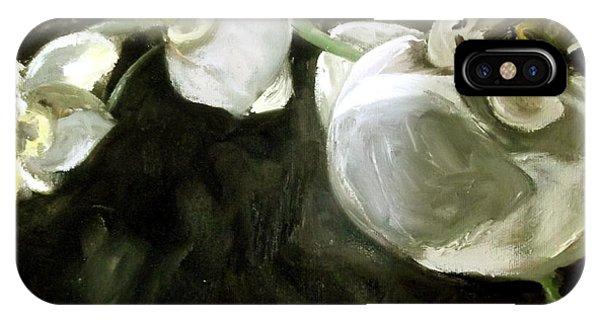Samantha iPhone Case - White Orchid  by Samantha Black