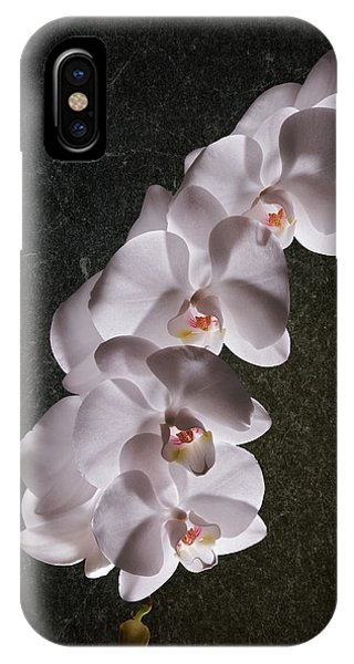 Orchid iPhone X Case - White Orchid Still Life by Tom Mc Nemar