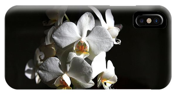 IPhone Case featuring the photograph White Orchids by Jeremy Hayden