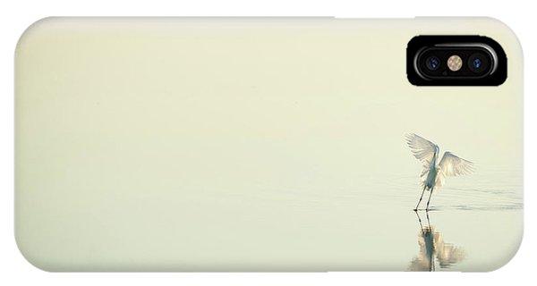 Delta iPhone Case - White Over White by Antonio Bonnin Sebasti??