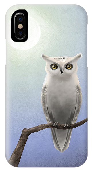 White Owl IPhone Case