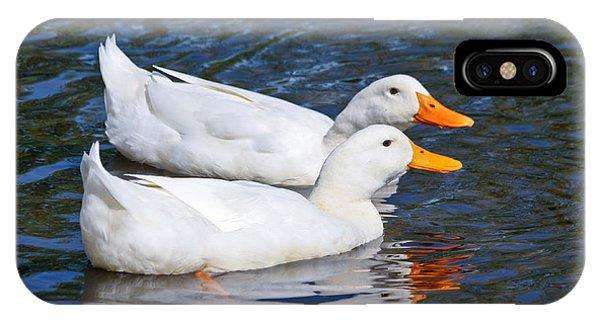 White Pekin Ducks #2 IPhone Case
