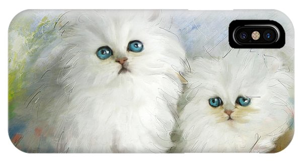 White Persian Kittens  IPhone Case