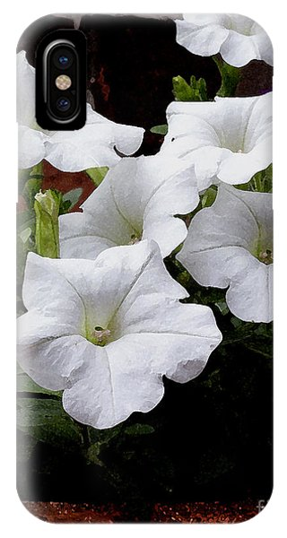 White Petunia Blooms IPhone Case
