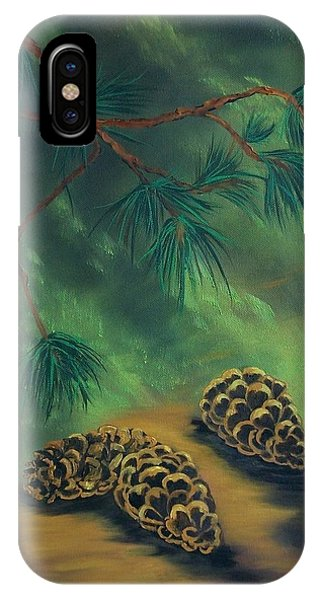 White Pine  And Cones IPhone Case