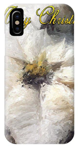 White Poinsettias Christmas Card Phone Case by Jennifer Hotai