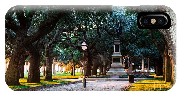 White Point Garden Walkway Charleston Sc IPhone Case