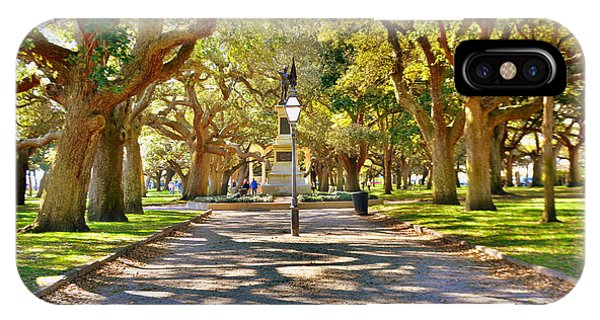 White Point Gardens At Battery Park Charleston Sc Hdr IPhone Case