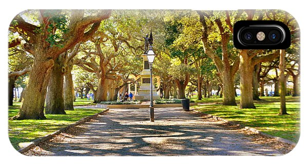 IPhone Case featuring the photograph White Point Gardens At Battery Park Charleston Sc Hdr by Lisa Wooten