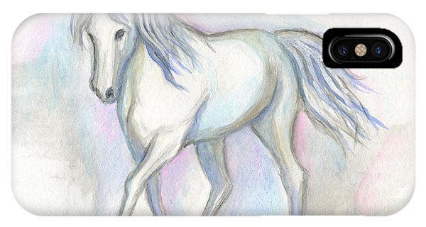 White Pony IPhone Case